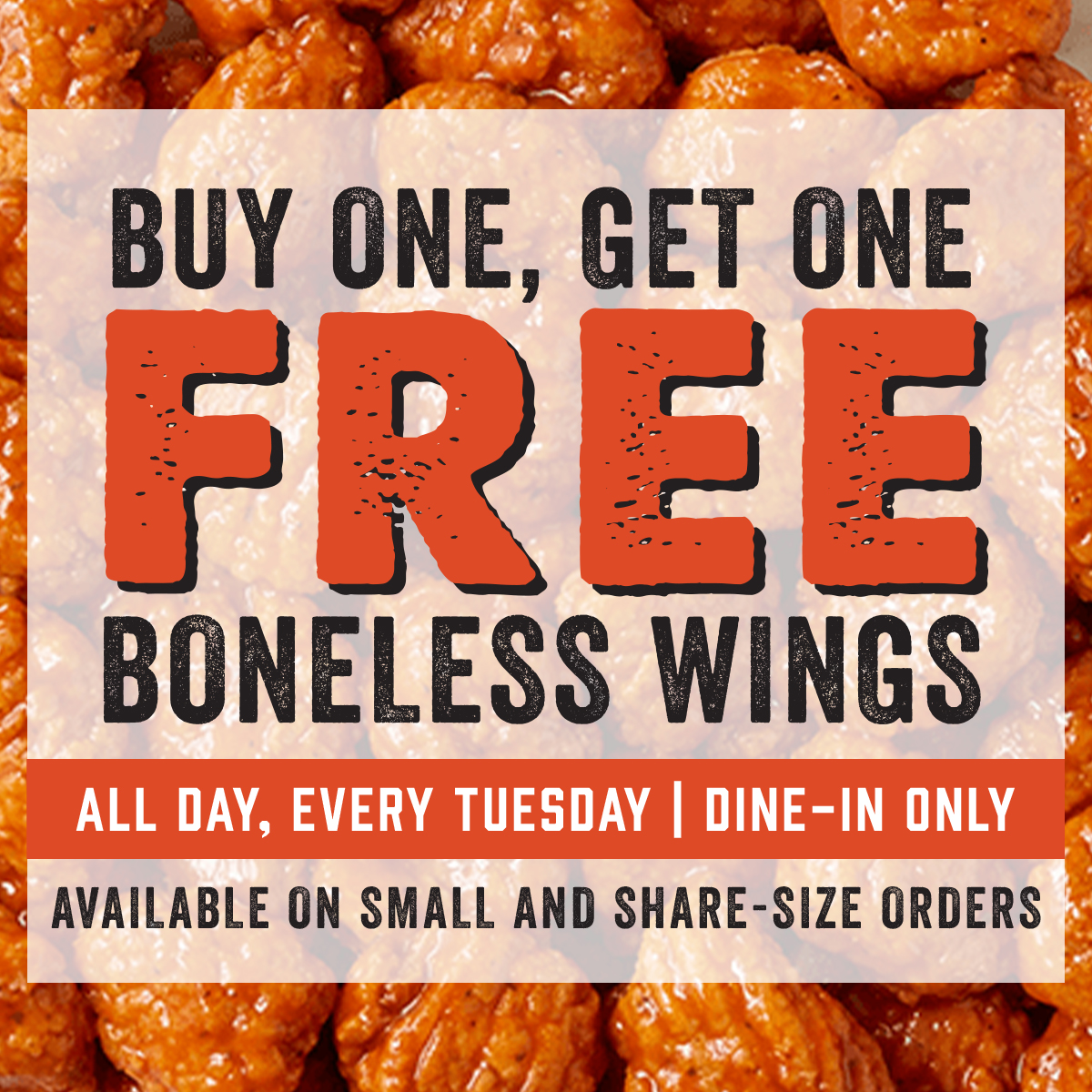 BOGO Boneless Wings