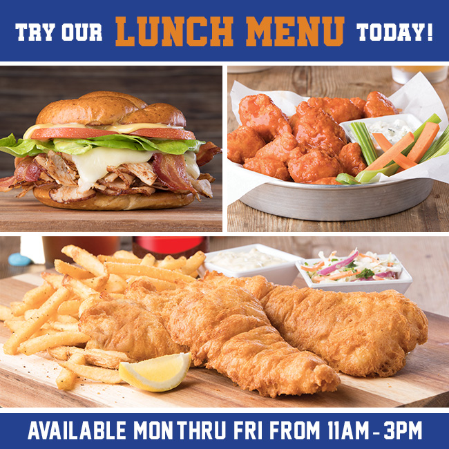 Try the Lunch Menu at Fox & Hound