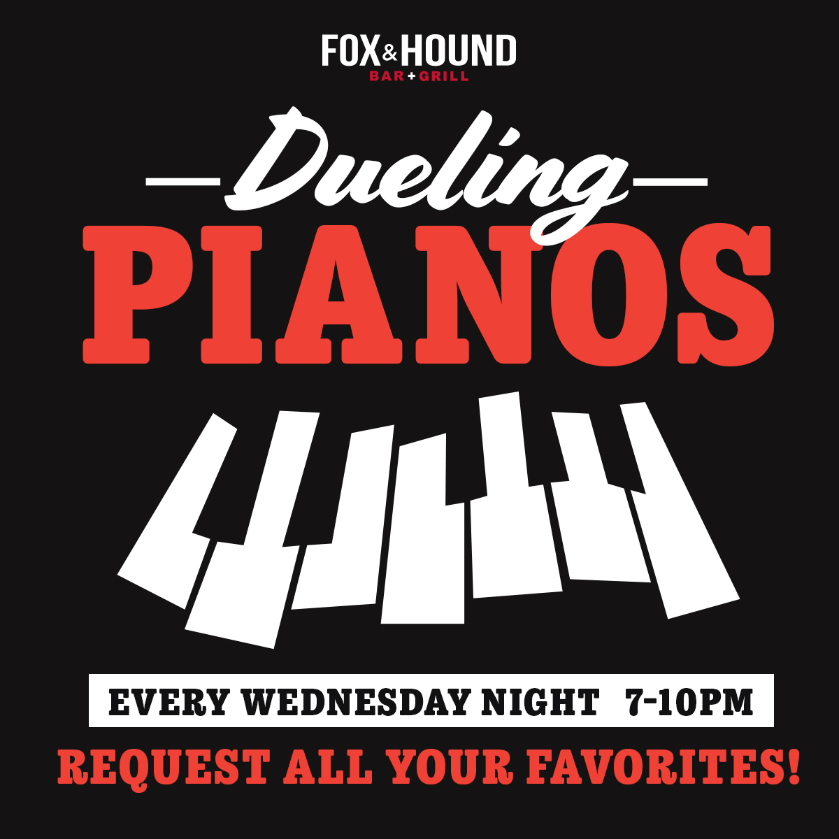 Dueling Pianos - Every Wednesday