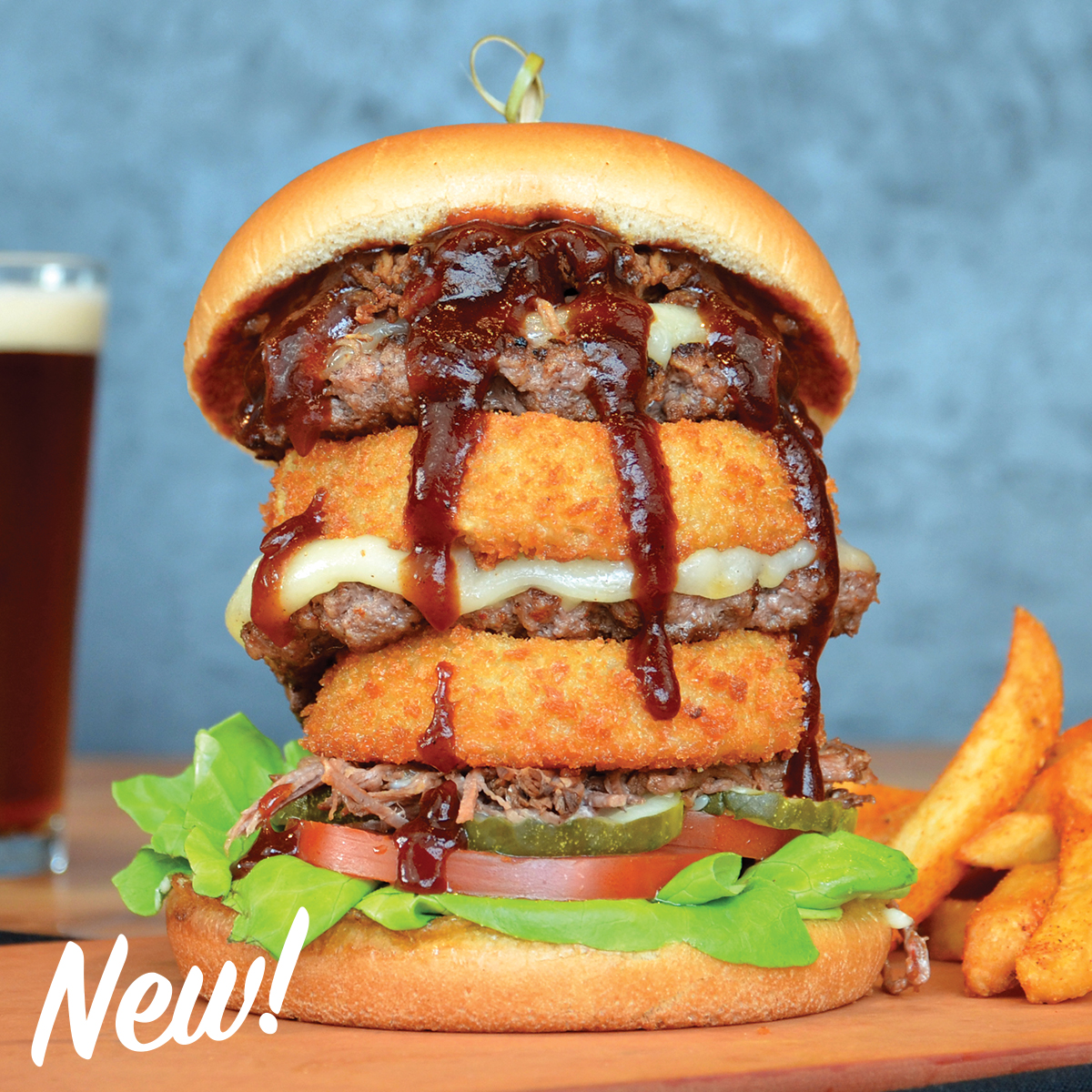 BBQ Beef Tower Burger